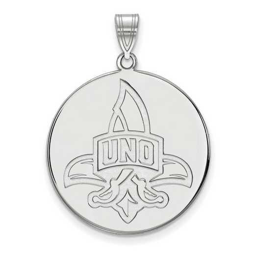 SS019UNO: SS LogoArt Univ of New Orleans XL Disc Pendant