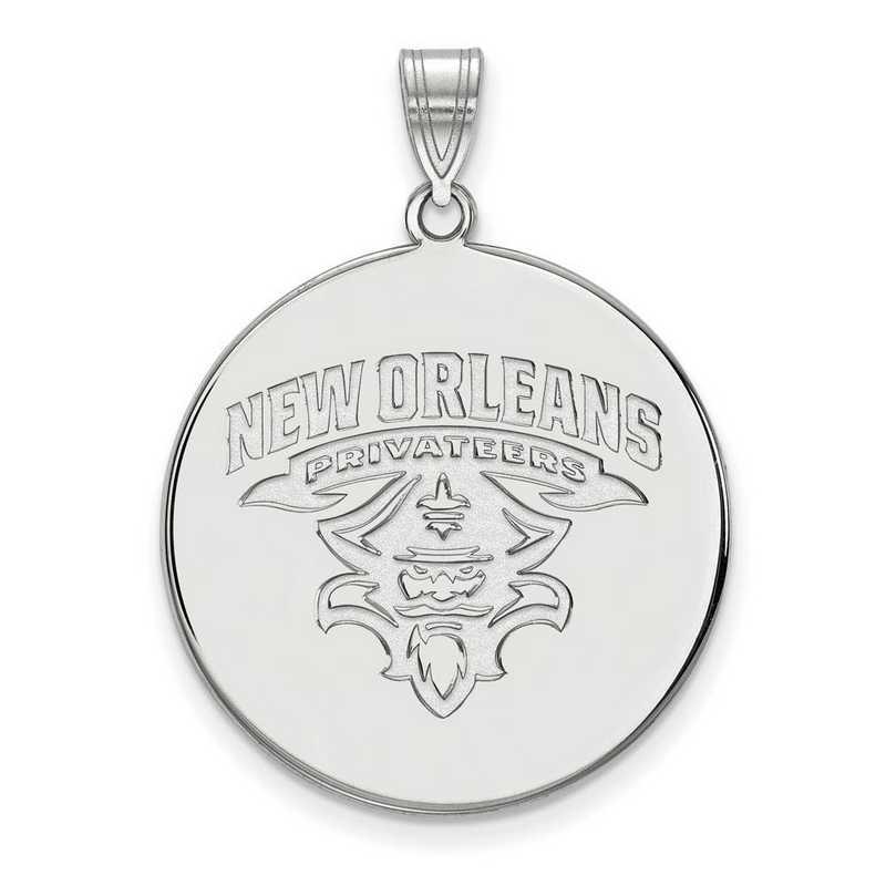 SS022UNO: SS LogoArt Univ of New Orleans XL Disc Pendant