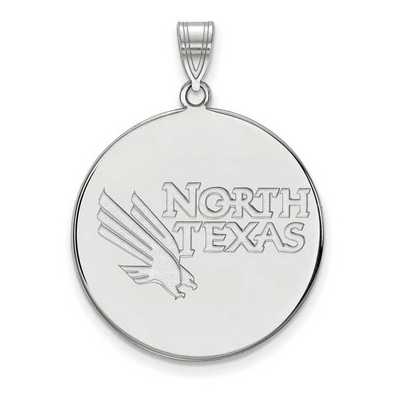 SS002UNT: SS LogoArt Univ of North Texas XL Disc Pendant