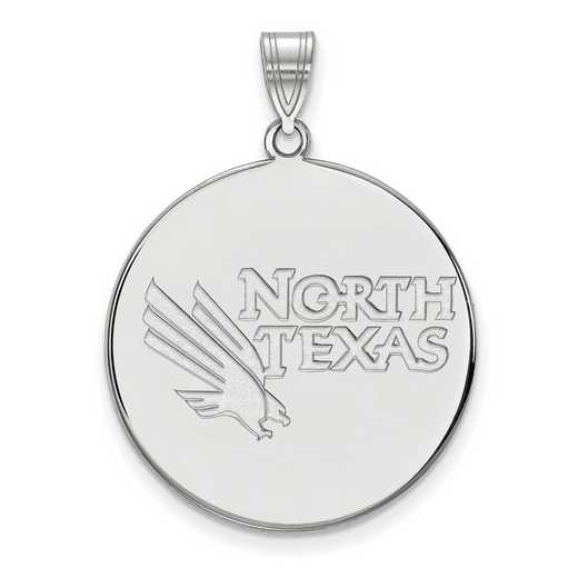 SS002UNT: SS LogoArt Univ of North Texas XL Disc Pendant