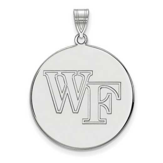 SS060WFU: SS LogoArt Wake Forest Univ XL Disc Pendant