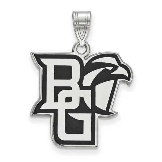 SS029BG: SS LogoArt Bowling Green St Univ LG Enamel Pendant