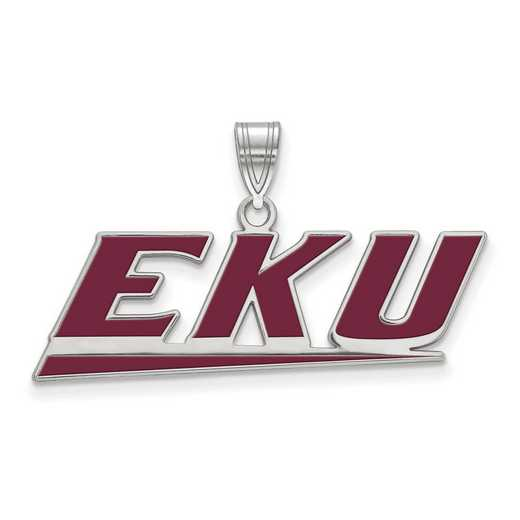 SS020EKU: SS LogoArt Eastern Kentucky Univ LG Enamel Pendant