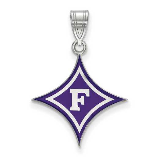 SS012FUU: SS LogoArt Furman Univ LG Enamel Pendant