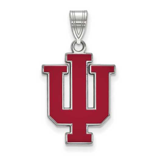 SS072IU: SS LogoArt Indiana Univ LG Enamel Pendant
