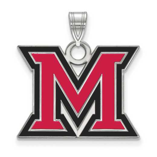 SS017MU: SS LogoArt Miami Univ LG Enamel Pendant
