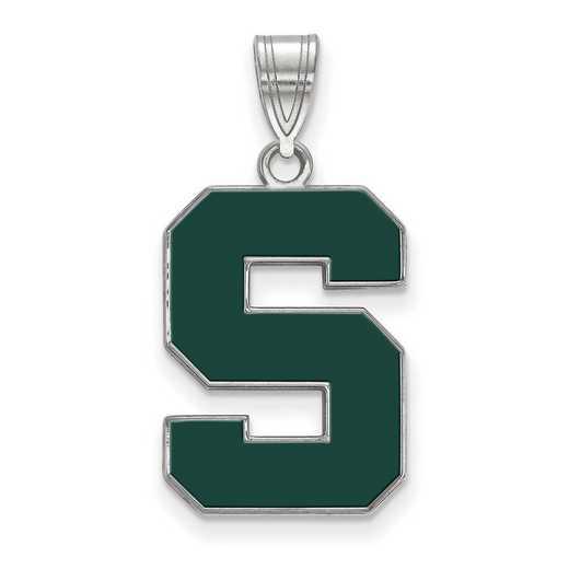 SS032MIS: SS LogoArt Michigan St Univ LG Enamel Pendant