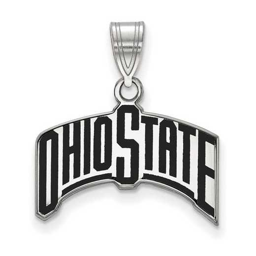 SS075OSU: SS LogoArt Ohio St Univ LG Enamel Pendant