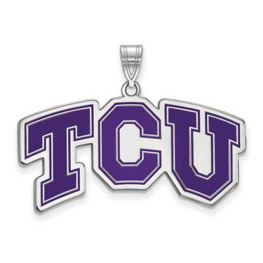 SS011TCU: SS LogoArt Texas Christian Univ LG Enamel Pendant