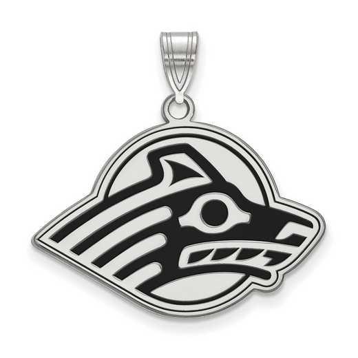 SS004UAK: SS LogoArt Univ of Alaska LG Enameled Pendant