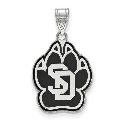 SS011USD: SS LogoArt Univ of South Dakota LG Enamel Pendant