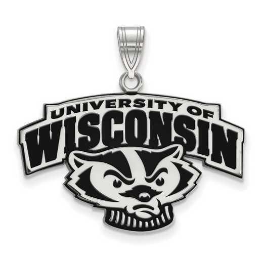 SS097UWI: SS LogoArt Univ of Wisconsin LG Enamel Pendant