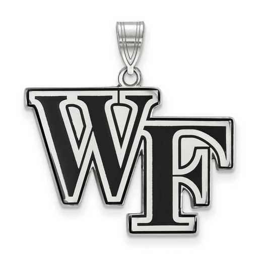 SS026WFU: SS LogoArt Wake Forest Univ LG Enamel Pendant