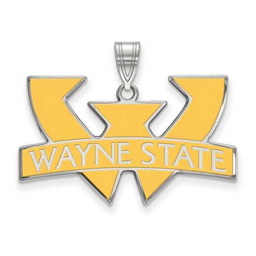 SS011WAY: SS LogoArt Wayne St Univ LG Enamel Pendant