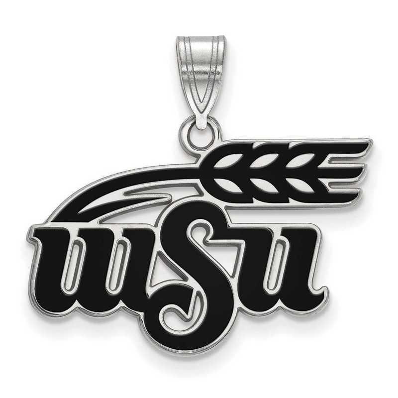 SS023WST: SS LogoArt Wichita St Univ LG Enamel Pendant