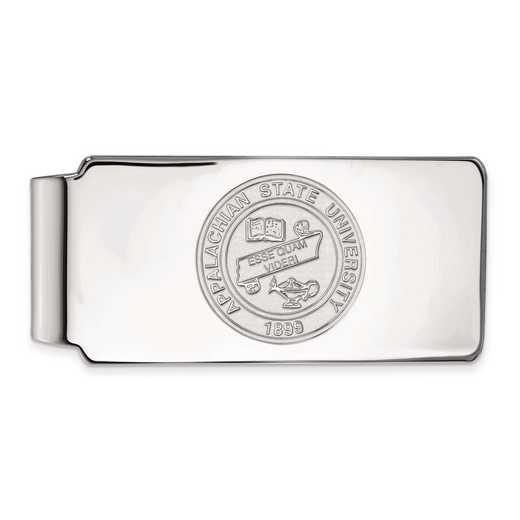 SS023APS: SS LogoArt Appalachian State Univ Money Clip Crest