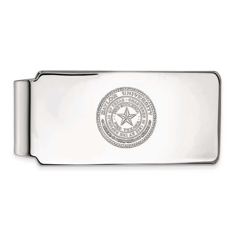 SS041BU: SS LogoArt Baylor Univ Money Clip Crest