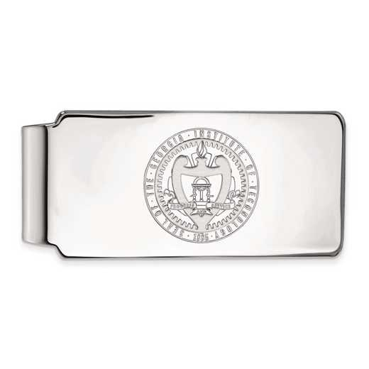 SS059GT: SS LogoArt Georgia Institute of Technology Money Clip Crest