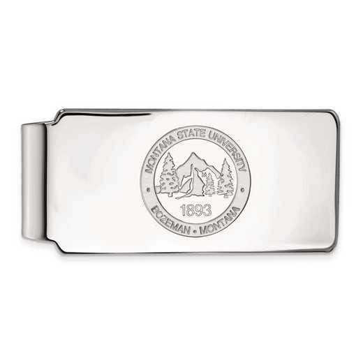 SS029MTU: SS LogoArt Montana State Univ Money Clip Crest