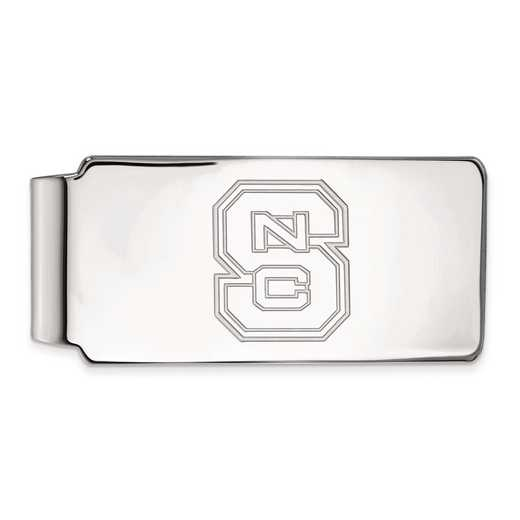 SS025NCS: SS LogoArt North Carolina State Univ Money Clip