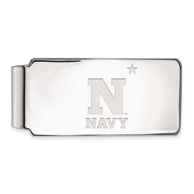 SS005USN: SS LogoArt Navy Money Clip