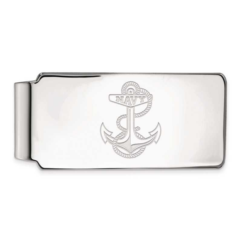 SS029USN: SS LogoArt Navy Money Clip