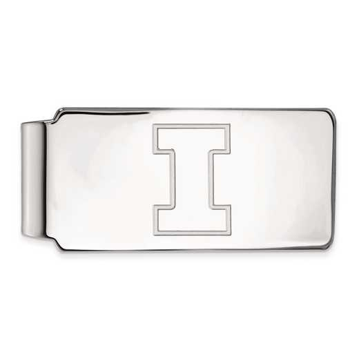 SS025UIL: SS LogoArt Univ of Illinois Money Clip