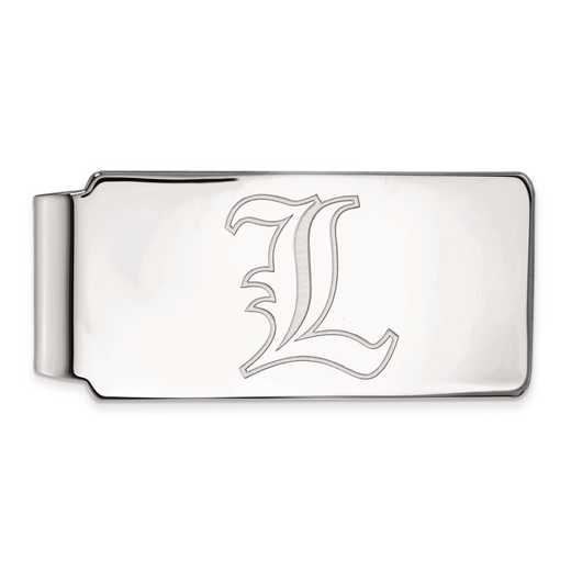 SS019UL: SS LogoArt Univ of Louisville Money Clip