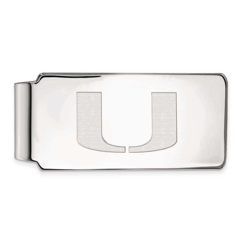 SS025UMF: SS LogoArt Univ of Miami Money Clip
