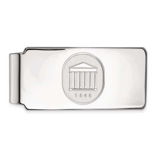 SS074UMS: SS LogoArt Univ of Mississippi Money Clip Crest
