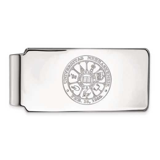 SS047UNE: SS LogoArt Univ of Nebraska Money Clip Crest