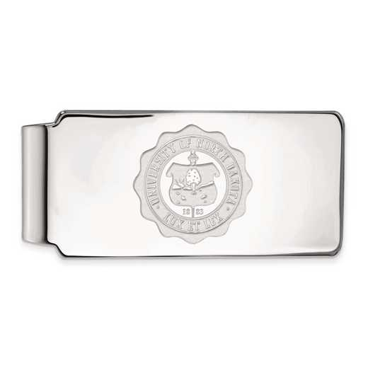 SS032UNOD: SS LogoArt Univ of North Dakota Money Clip Crest