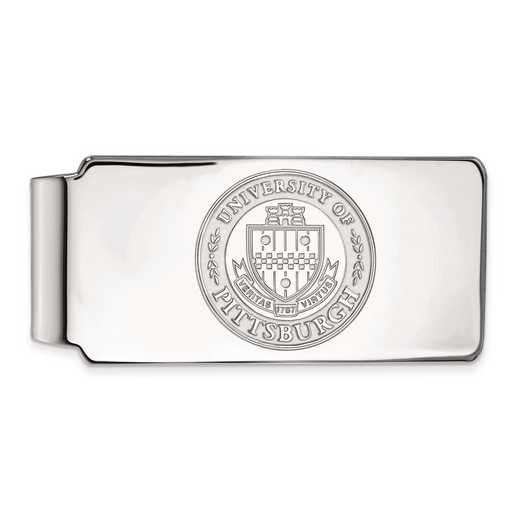 SS049UPI: SS LogoArt Univ of Pittsburgh Money Clip Crest