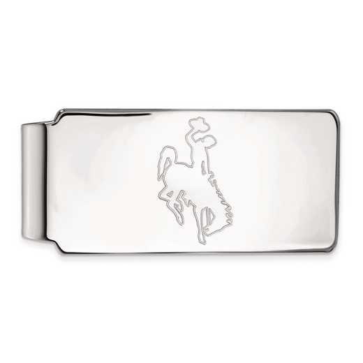 SS011UWY: SS LogoArt The Univ of Wyoming Money Clip