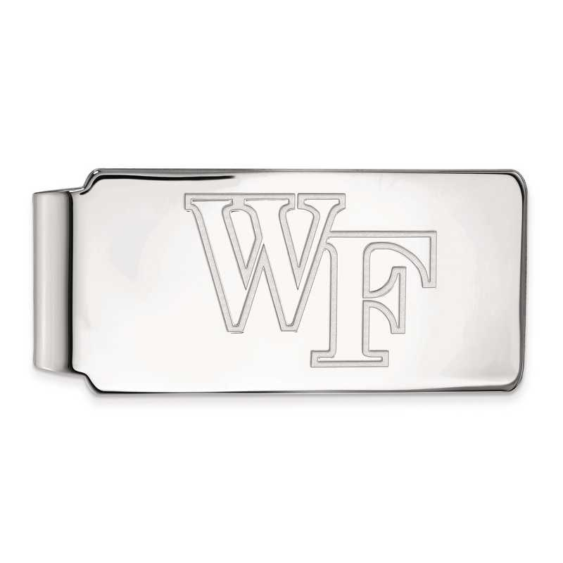 SS019WFU: SS LogoArt Wake Forest Univ Money Clip