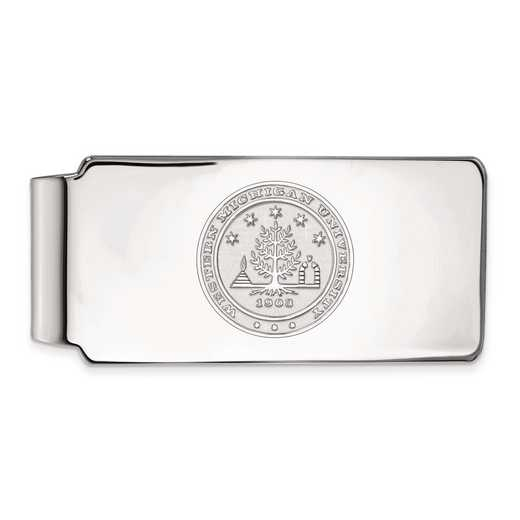 SS023WMU: SS LogoArt Western Michigan Univ Money Clip Crest