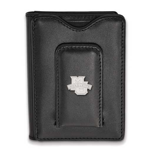 SS005MAR-W1: SS LogoArt Marquette Univ Blk Leather Wallet