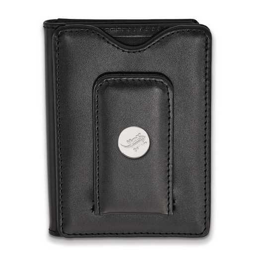 SS045TCU-W1: SS Texas Christian Univ Blk Leather Money Clip Wallet