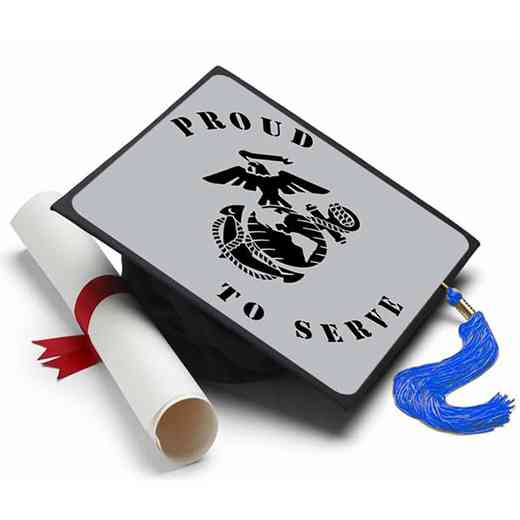 MARINESSERVE: Marines - Proud to Serve Grad Cap Tassel Topper