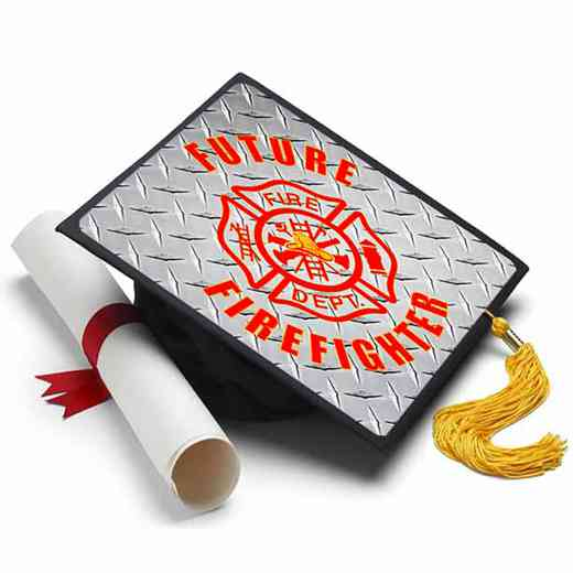 Future FireFighter: Future Firefighter Grad Cap Tassel Topper