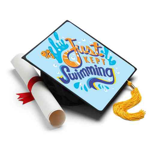 KEPTSWIMMING: Just Kept Swimming Grad Cap Tassel Topper