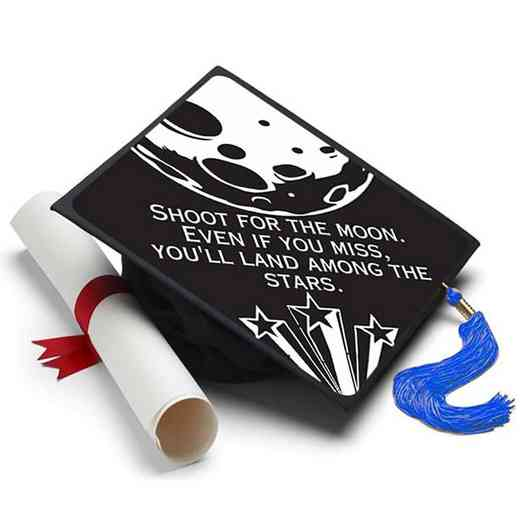 Shoot for the Moon: Shoot For The Moon Grad Cap Tassel Topper