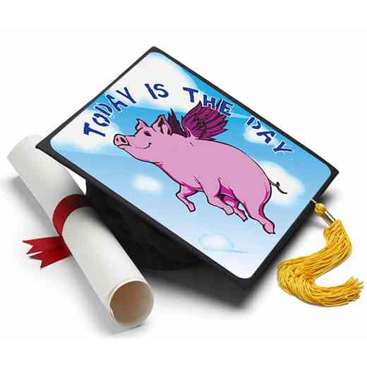 When Pigs Fly: When Pigs Fly Grad Cap Tassel Topper