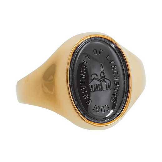 University of Lynchburg Women's Small Signet with Stone Top