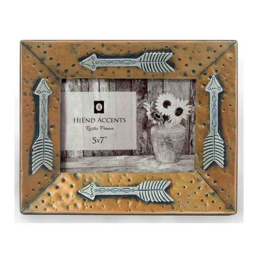 WD1701: HEA Gold Picture Frame w/ Arrows, 5x7