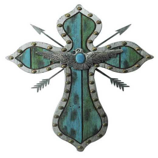 WD2703: HEA Thunderbird Arrow Turquoise Cross