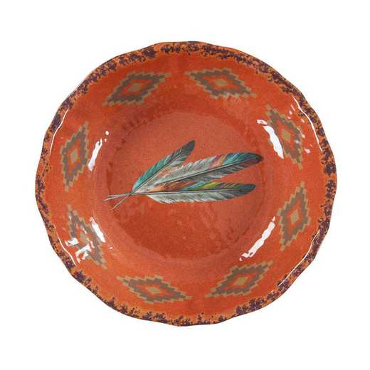 DI1754SB01: HEA Feather Melamine Serving Bowl