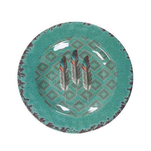 DI1754SL04: HEA 4pc Feather Melamne Salad Plate
