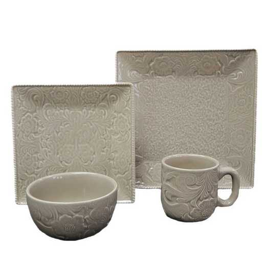 DI4001-OS-TP: HEA 16pc Savannah Dish Set, Taupe