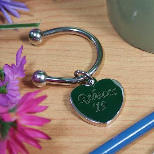 8566400: PGS Graduation Silver Heart Key Chain